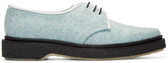 Adieu Blue Felted Wool Derbys