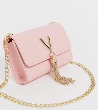 5754575cdb40a Mario Valentino Valentino By Valentino by Divina foldover tassel detail  cross body bag in pink