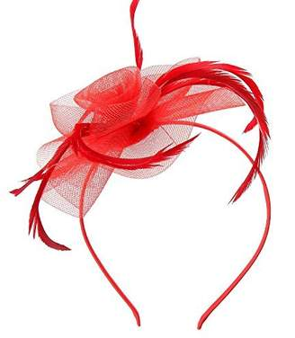 styling/ Acecharming Fascinators for Women, Feather Sinamay Fascinators with Headbands Tea Party Pillbox Hat Flower Derby Hats
