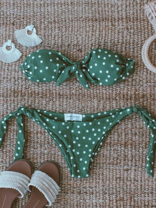 Goodnight Macaroon 'Violet' Tied Polka Dot Bikini (2 Colors)