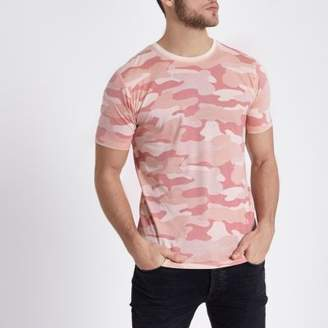 River Island Mens Only and Sons pink camo print T-shirt