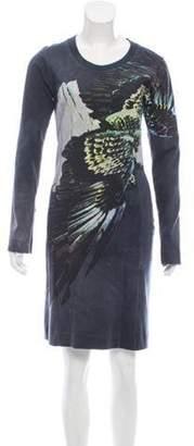 Maison Margiela Printed Knee-Length Dress Grey Printed Knee-Length Dress