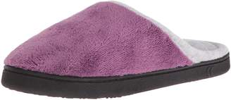 Isotoner Women's Microterry Wider Width Clog Slip on Slipper