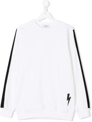 Neil Barrett Kids Teen logo print sweatshirt