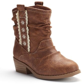 Jumping Beans® Toddler Girls' Western Slouch Ankle Boots $44.99 thestylecure.com