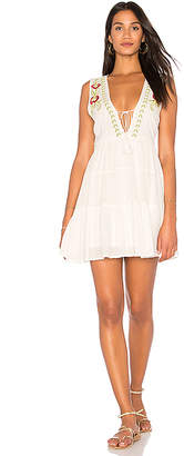 Band of Gypsies Embroidered Babydoll Dress in Ivory $83 thestylecure.com