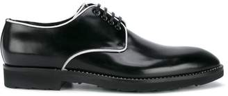 Dolce & Gabbana contrast piping derby shoes