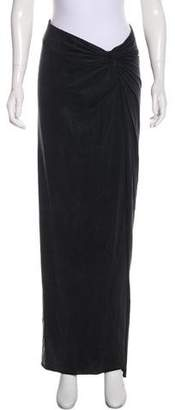 Helmut Lang Ruched Maxi Skirt