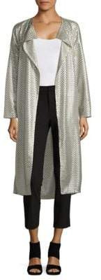 Akris Embroidered Silk Duster Coat