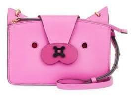 Anya Hindmarch Fox Leather Mini Crossbody Bag