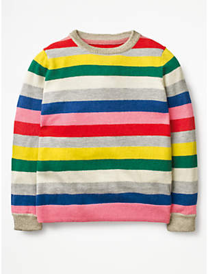 Boden Mini Girls' Fun Rainbow Jumper, Rainbow