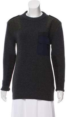 Tomas Maier Pocket-Accented Rib Knit Sweater