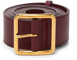 Alexander McQueen Long Leather Waist Belt - Womens - Burgundy