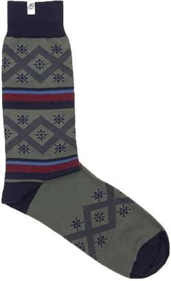 40 Colori Grey Criss-Cross Organic Cotton Socks