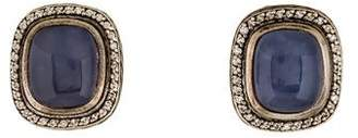 David Yurman Chalcedony & Diamond Albion Earrings