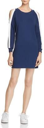 Pam & Gela Lace-Up Back Cold-Shoulder Dress