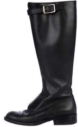 Prada Round-Toe Knee-High Boots