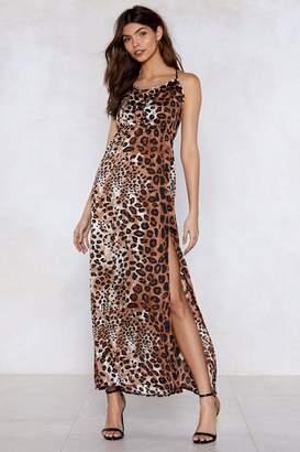 Nasty Gal Ferocious to the Maxi Leopard Dress