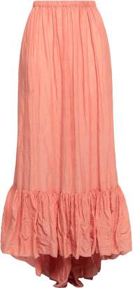 Lisa Marie Fernandez Crinkled Cotton-blend Gauze Maxi Skirt