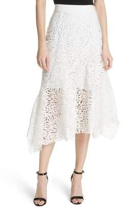 Milly Flounce Hem Lace Skirt