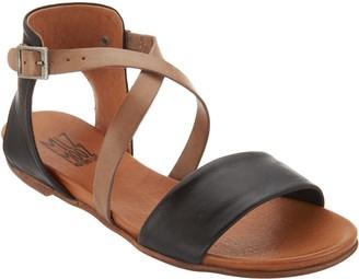 Miz Mooz Leather Cross Strap Sandals - Amanda
