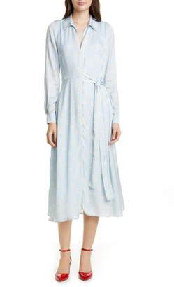 Stine Goya Baily Long Sleeve Midi Shirtdress