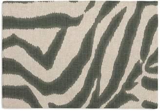 Loom Decor Placemats, Set of 4 Zebra Ikat - Steel