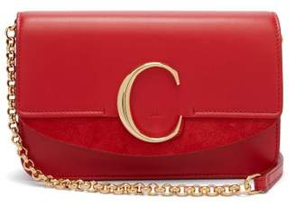 Chloé The C Mini Leather And Suede Cross Body Bag - Womens - Red