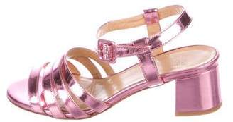 Maryam Nassir Zadeh Metallic Leather Multistrap Sandals