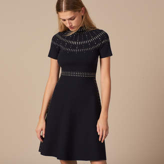 Sandro Mid-length knit dress with eyelets