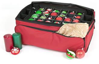 Santa Bag Three Tray Ornament Storage Bag w/ Side Pockets