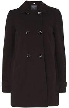 Damenmäntel Zweireihiger schwarzer Swing Coat