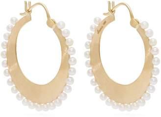 Irene Neuwirth Akoya Pearl And 18kt Gold Hoop Earrings - Womens - Gold