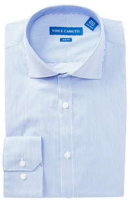 Vince Camuto Twill Pin Stripe Slim Fit Dress Shirt