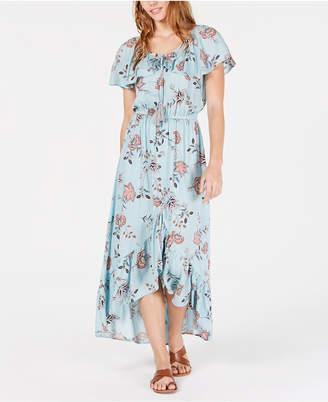 b0e404157 American Rag Juniors' Printed High-Low Maxi Dress