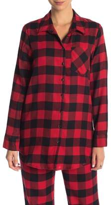Free Press Plaid Flannel Nightshirt