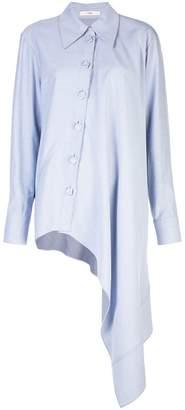 Tibi twill asymmetrical shirt