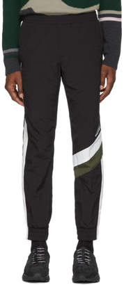 Wooyoungmi Black and Khaki Track Pants