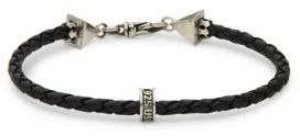 Sterling Silver & Leather Braided Bracelet $190 thestylecure.com