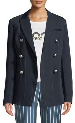 Camilla And Marc Apollo Double-Breasted Pinstripe Blazer Jacket