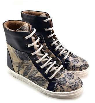 Goby Floral Colorblock High Top Sneaker