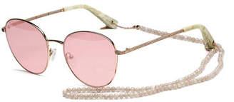 Elizabeth and James Gilmour Oval Sunglasses w/ Stone Neck Strap