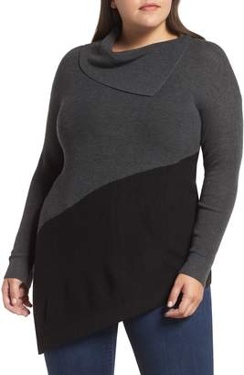 Vince Camuto Asymmetrical Colorblock Sweater