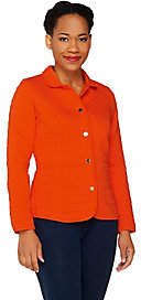 Isaac Mizrahi Live! Quilted Knit Jacket