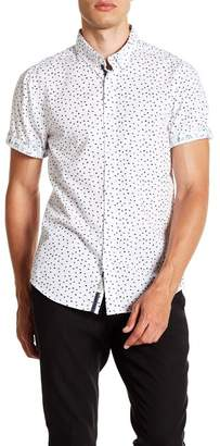 Report Collection Geo Paisley Short Sleeve Slim Fit Shirt