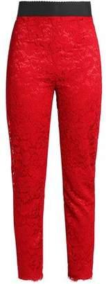 Dolce & Gabbana Corded Lace Skinny Pants