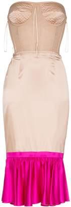 Duran Lantink two-tone corset dress