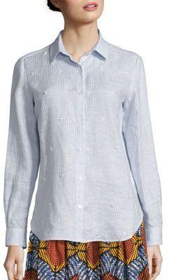 Max MaraWeekend Max Mara Crespo Beaded Linen Shirt
