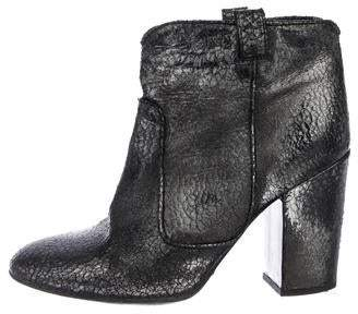 Laurence Dacade Metallic Leather Ankle Boots