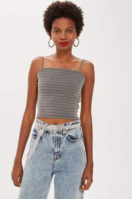 Topshop PETITE Rainbow Stripe Camisole Top